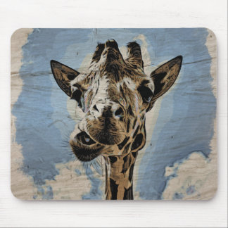 Giraffe chewing mouse pad