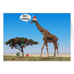 Giraffe Christmas Greeting Card