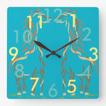 Giraffe Clock Fun Cute Animals Modern Artsy Gift 5