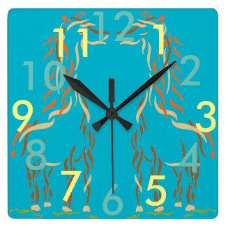 Giraffe Clock Fun Cute Animals Modern Artsy Gift 5