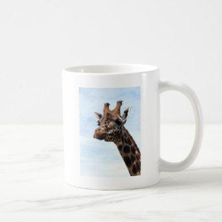 Giraffe close up head and neck coffee mug