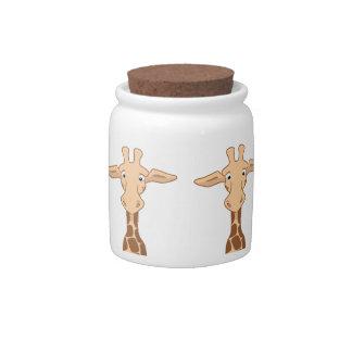 Giraffe Cookie Jar Candy Dish