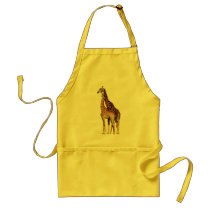 Giraffe Couple Adult Apron