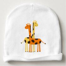 Giraffe Custom Baby Cotton Beanie