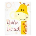 Giraffe Custom Invites