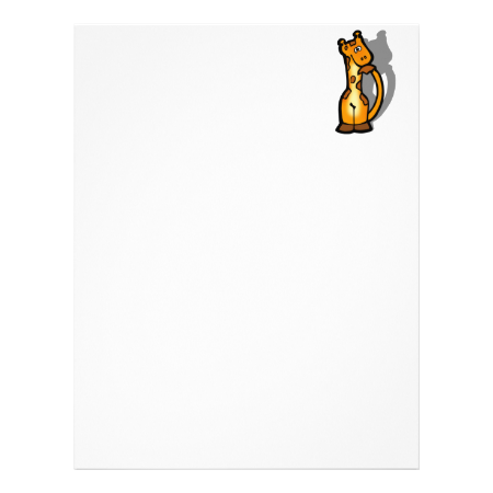 Giraffe Custom Letterhead