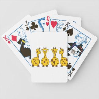Giraffe Cute Cartoon Bicycle Playing Cards