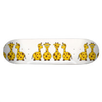 Giraffe Cute Cartoon Skateboard Deck