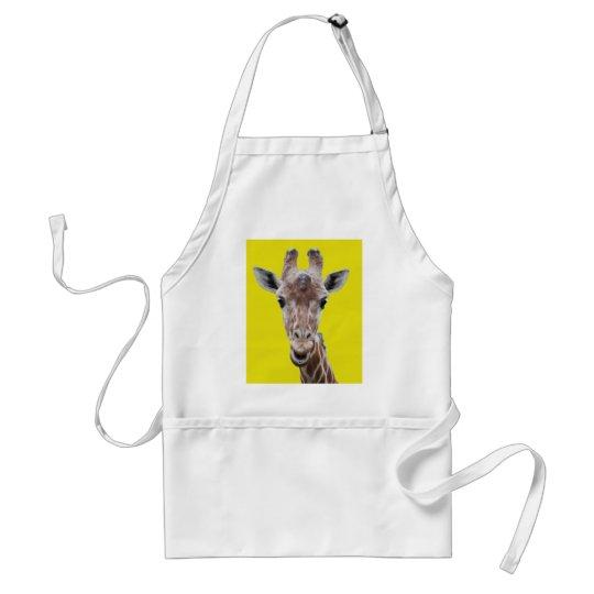 giraffe cutout yellow adult apron