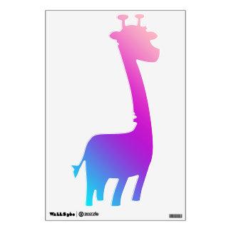 Giraffe Decals  - Blues, Purples, Pinks Wall Skins