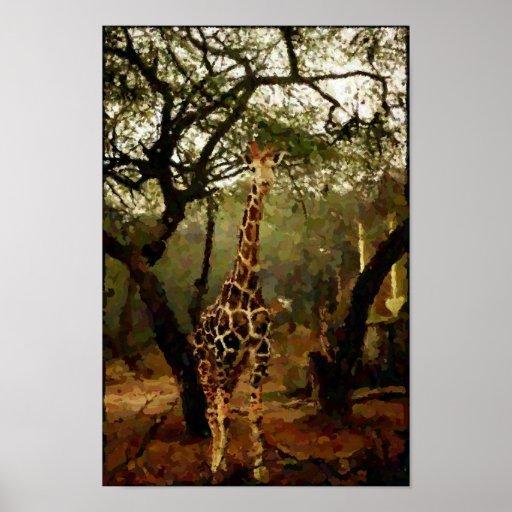Giraffe Digital Painting Print