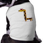 giraffe doggy coverup pet tshirt