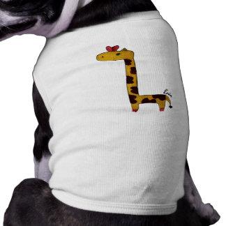 giraffe doggy coverup tee