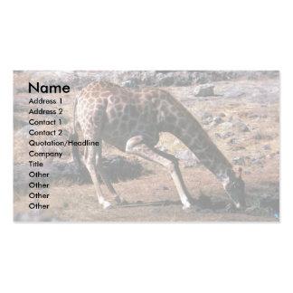 Giraffe - Drinking Business Card Template