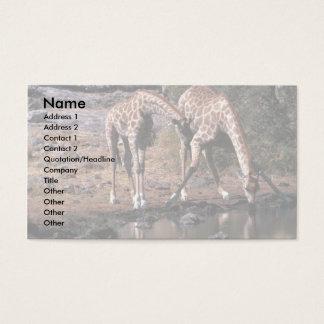 Giraffe - Drinking Business Card