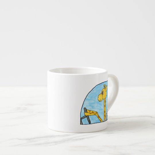 Giraffe Driving a Car. Espresso Cup