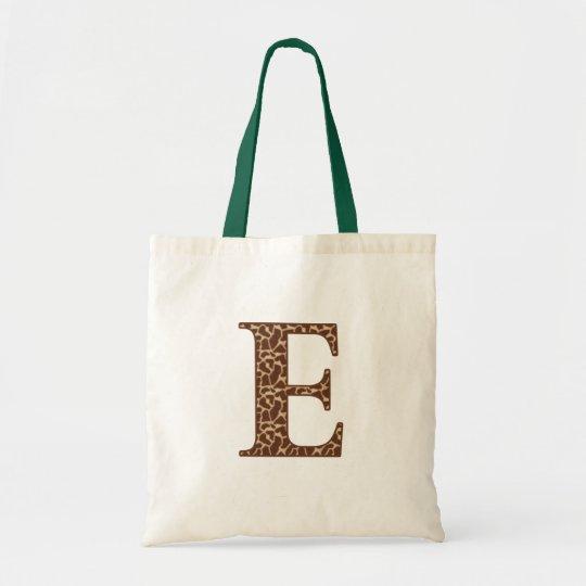 Giraffe E Tote Bag