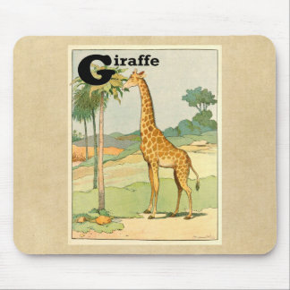 Giraffe Eating Acacia in the Desert Mouse Pad