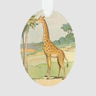 Giraffe Eating Acacia in the Desert Ornament
