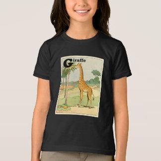 Giraffe Eating Acacia in the Desert T-Shirt
