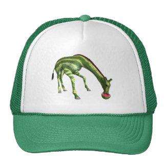 Giraffe Eating Watermelon Trucker Hat
