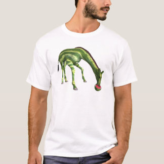Giraffe Eating Watermelon T-Shirt