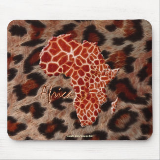 Giraffe-effect Map of Africa on Rustic Stone BG Mouse Pad
