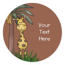 Giraffe envelope Seals and Stickers