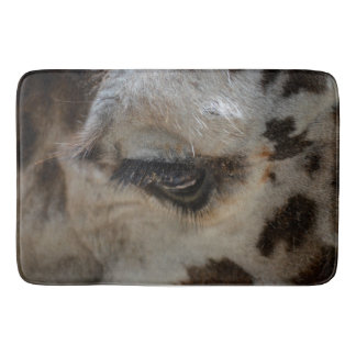giraffe eye animal close up bathroom mat