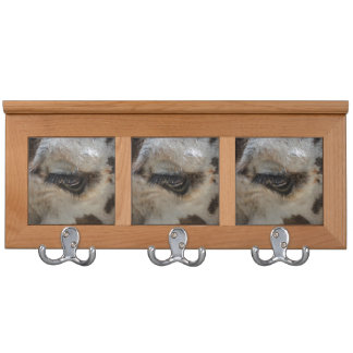 giraffe eye animal close up coat rack