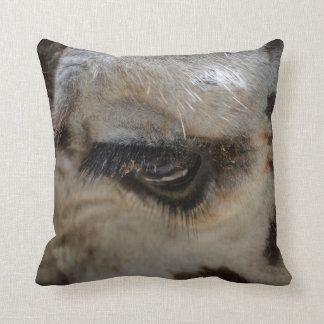 giraffe eye animal close up throw pillow