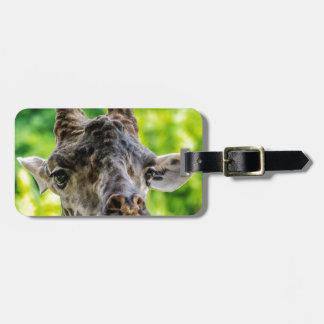 Giraffe Eyelashes Luggage Tag