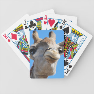Giraffe face bicycle playing cards