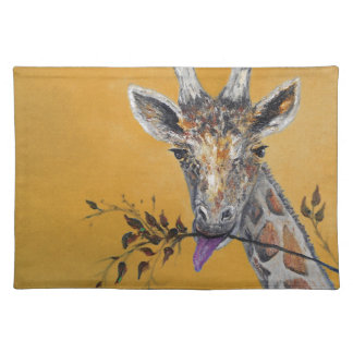 Giraffe Face Painting Cloth Placemat