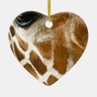 Giraffe Face | Wild Animals Nature Photo Ceramic Ornament