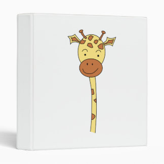 Giraffe Facing Forwards. Cartoon. Binder