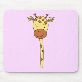 Giraffe Facing Forwards. Cartoon. Mouse Pad