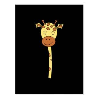 Giraffe Facing Forwards. Cartoon. Postcard