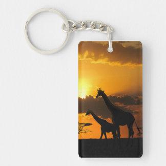 Giraffe Family 2 Keychain