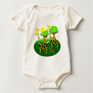 Giraffe Family Baby Bodysuit