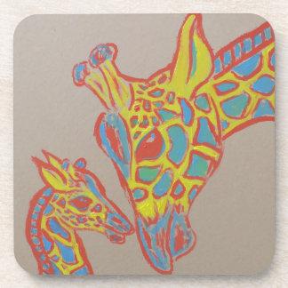 Giraffe Family Beverage Coaster
