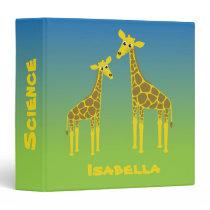 Giraffe family binder