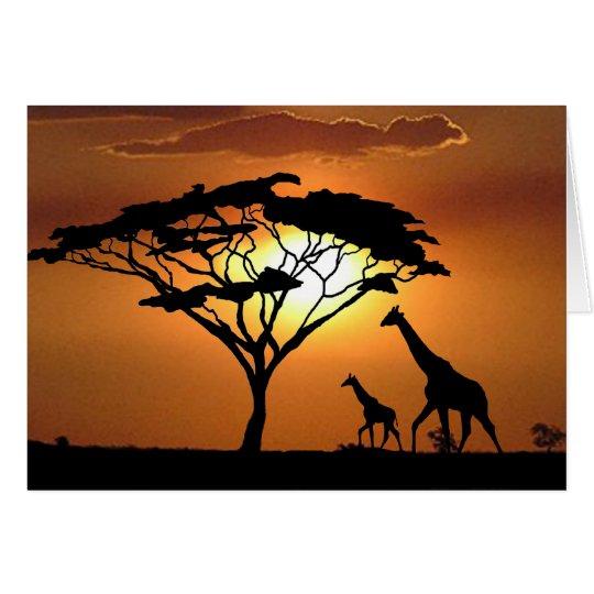 giraffe family card