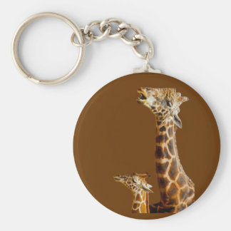 Giraffe Family Gift Keychain