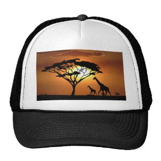 giraffe family trucker hats