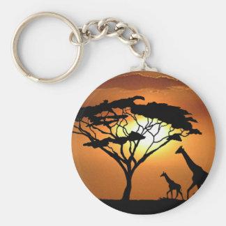 giraffe family keychain