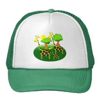 Giraffe Family Mesh Hats