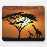 giraffe family mouse pad