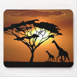 giraffe family mouse pad