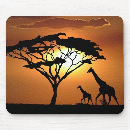 giraffe family mousepads